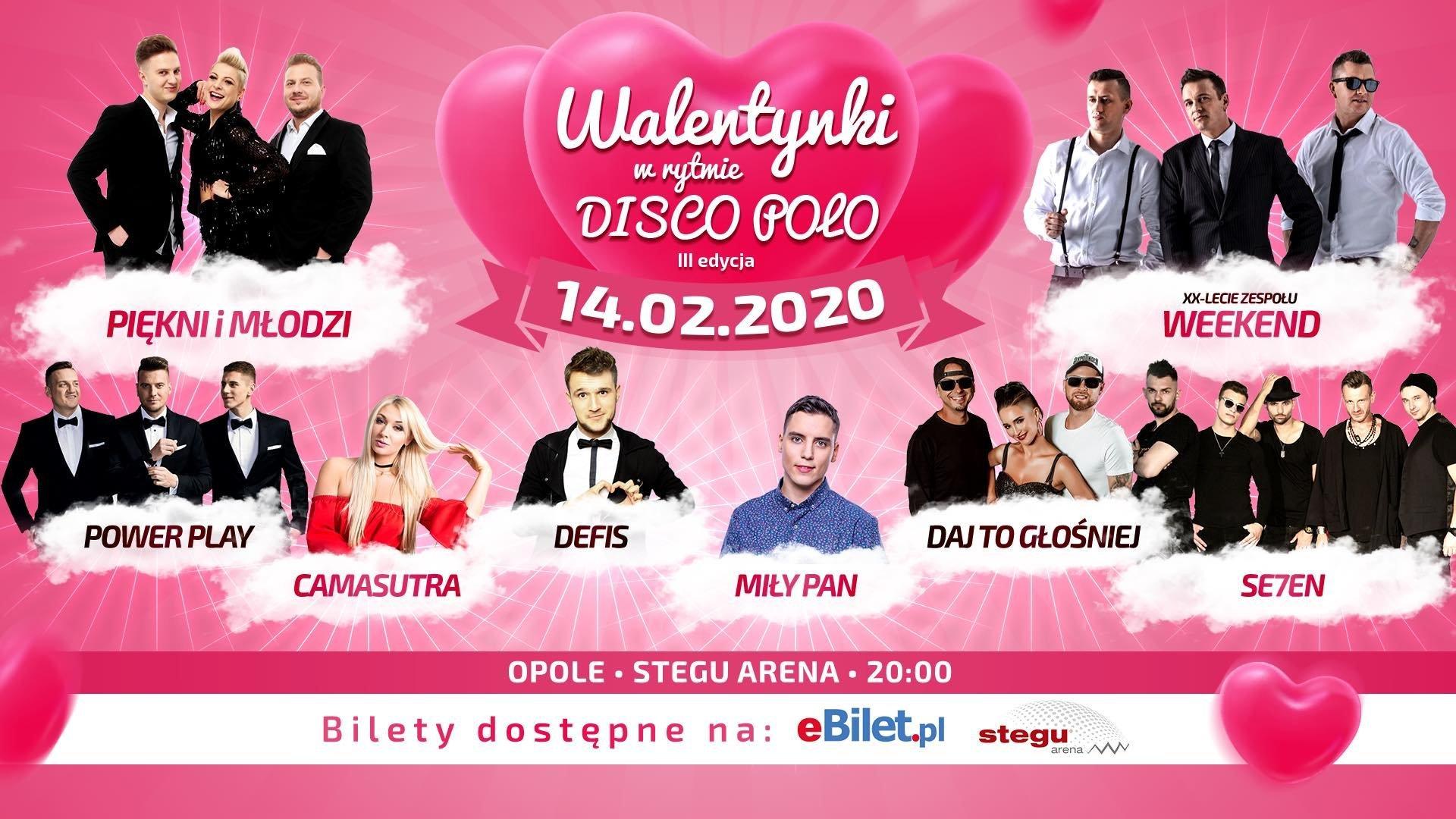 Spędź walentynki z największymi gwiazdami disco polo! Opole stolicą muzyki tanecznej!